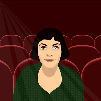 Amelie at the Flix Taidejuliste