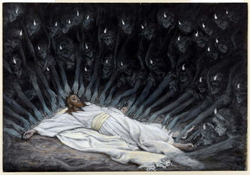 Angels Came and Ministered unto Him, illustration for 'The Life of Christ', c.1886-94 Taidejuliste