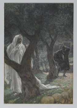Apparition of Our Lord to Saint Peter, illustration from 'The Life of Our Lord Jesus Christ', 1886-94 Taidejuliste
