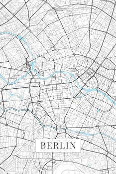 Kartta Berlin white