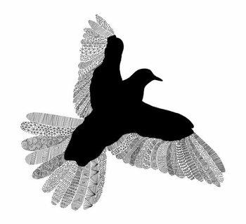 Bird Line Art Taidejuliste