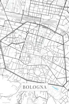 Kartta Bologna white