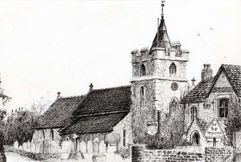 Brighstone Church I.O.W., 2008, Taidejuliste