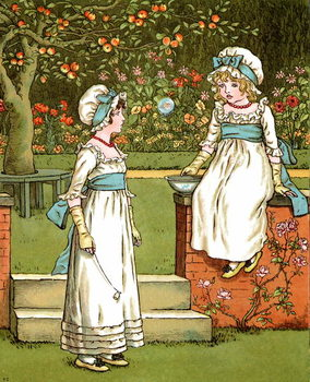 'Bubbles'  by Kate Greenaway. Taidejuliste