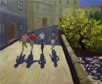 Children Running, Lesbos, 1999 Taidejuliste
