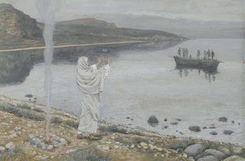 Christ Appears on the Shore of Lake Tiberias, illustration from 'The Life of Our Lord Jesus Christ', 1886-94 Taidejuliste