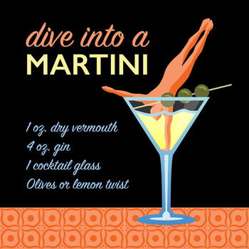 Classic Martini Taidejuliste