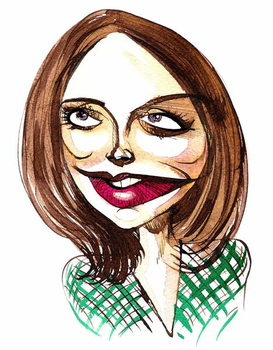 English actress Jenna-Louise Coleman ; caricature Taidejuliste