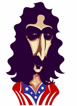 Frank Zappa, by Neale Osborne Taidejuliste