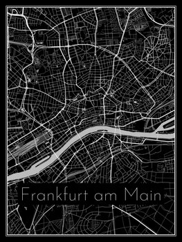 Kartta Frankfurt am Main