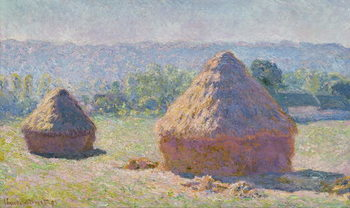 Grainstacks at the end of the Summer, Morning effect, 1891 Taidejuliste