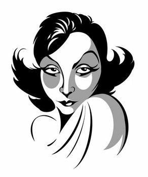 Greta Garbo, Swedish actress, 1905-1990 Taidejuliste