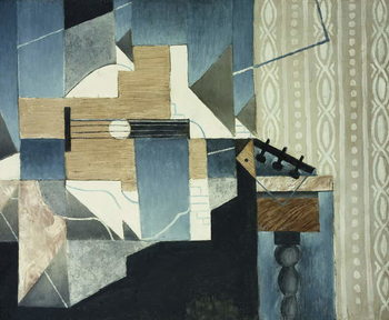 Guitar on Table; La Guitare sur la Table, 1913 Taidejuliste