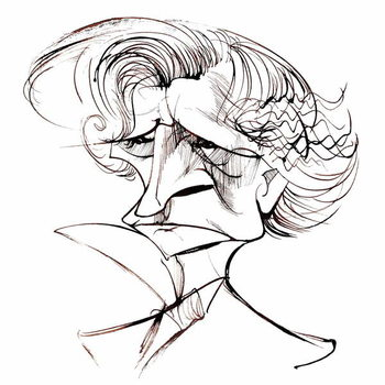 Hector Berlioz, French composer , sepia line caricature, 2006 by Neale Osborne Taidejuliste
