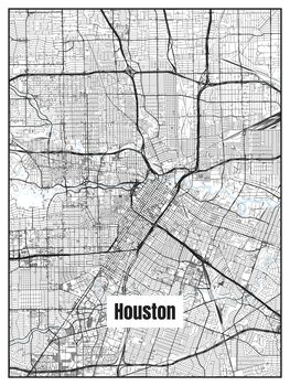 Kartta Houston