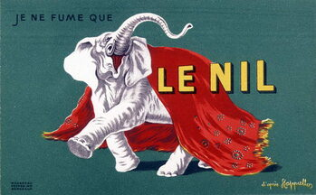 """I only smoke the Nile. Cigarette advertising poster """""""" The Nile"""""""" by Leonetto Cappiello . sd. 20th century Taidejuliste"""