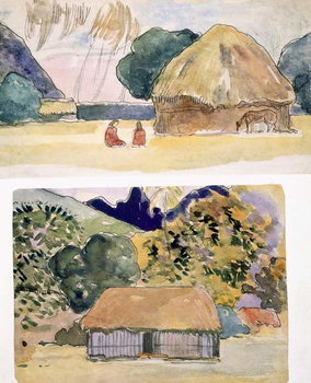 Illustrations from 'Noa Noa, Voyage a Tahiti', published 1926 Taidejuliste