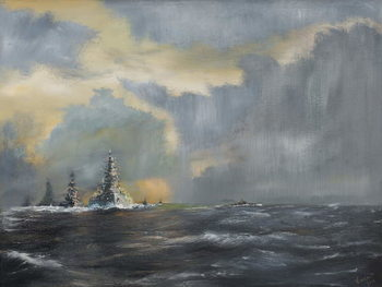 Japanese fleet in Pacific 1942, 2013, Taidejuliste