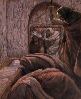 Jesus in the Tomb, illustration for 'The Life of Christ', c.1884-96 Taidejuliste