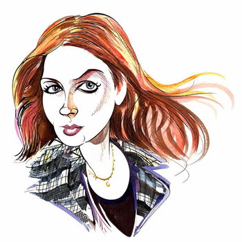 Karen Gillan as Amy Pond, Doctor Who's assistant in BBC television series of the same name Taidejuliste