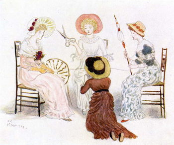 'Kate Greenaway before the fates' Taidejuliste