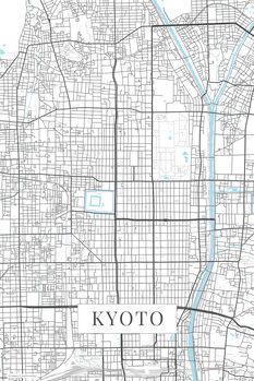 Kartta Kyoto white
