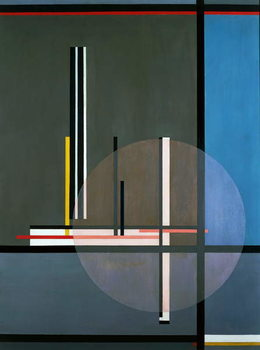 LIS, 1922, by Laszlo Moholy-Nagy , oil on canvas, 132 x 102 cm. Hungary, 20th century. Taidejuliste