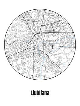 Kartta Ljubljana