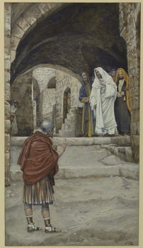 Lord, I Am Not Worthy, illustration from 'The Life of Our Lord Jesus Christ' Taidejuliste