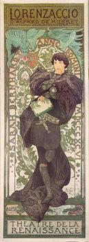 """""""Lorenzaccio"""", with Sarah Bernhardt, at the Renaissance at the Théâtre de la Renaissance (poster), 1896 Taidejuliste"""