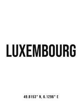 Kuva Luxembourg simple coordinates