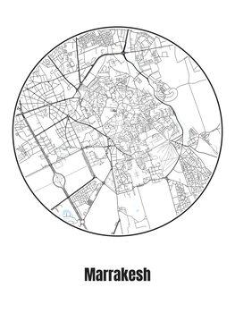 Kartta Marrakesh