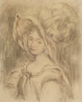Mme Dieterle in a Hat, c.1896 Taidejuliste