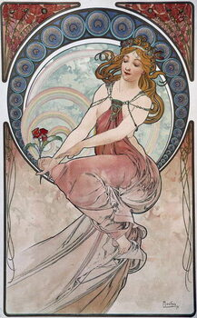 Painting - by Mucha, 1898. Taidejuliste