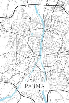 Kartta Parma white