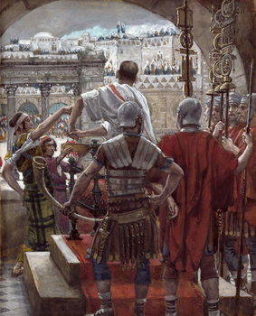Pilate Washes His Hands, illustration for 'The Life of Christ', c.1886-94 Taidejuliste