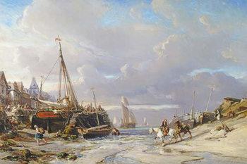 Port en Bretagne, 1861 Taidejuliste