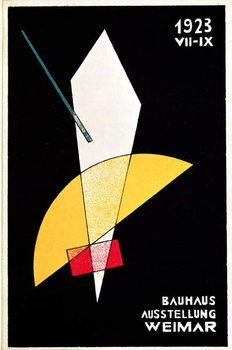 Poster for a Bauhaus exhibition in Weimar, Germany, 1923 Taidejuliste