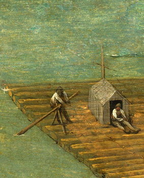Raft detail from Tower of Babel, 1563 Taidejuliste