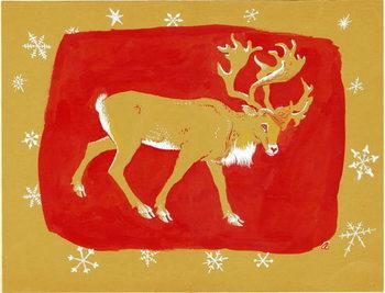 Reindeer, 1960s Taidejuliste