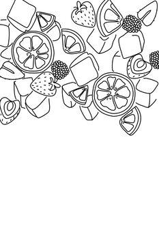 Kuva Sangria line art