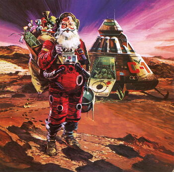 Santa Claus on Mars, as depicted in 1976 Taidejuliste