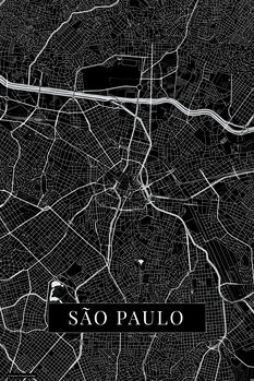 Kartta Sao Paulo black
