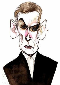 Scottish actor and film director Peter Capaldi ; caricature Taidejuliste