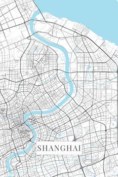 Kartta Shanghai white