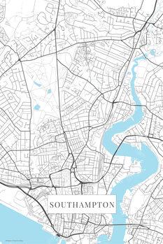 Kartta Southampton white