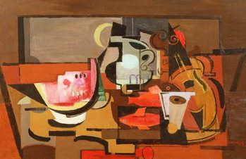 Still life with a slice of Watermelon, c.1929 Taidejuliste