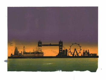 Sunset on London Taidejuliste