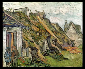 Thatched Cottages in Chaponval, Auvers-sur-Oise, 1890 Taidejuliste