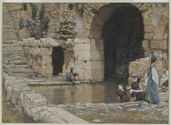 The Blind Man Washes in the Pool of Siloam, illustration from 'The Life of Our Lord Jesus Christ', 1886-96 Taidejuliste